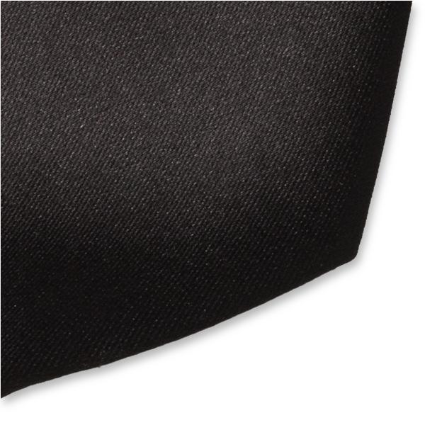 2d6e270c1b736 Cravate noire en satin polyester (2)