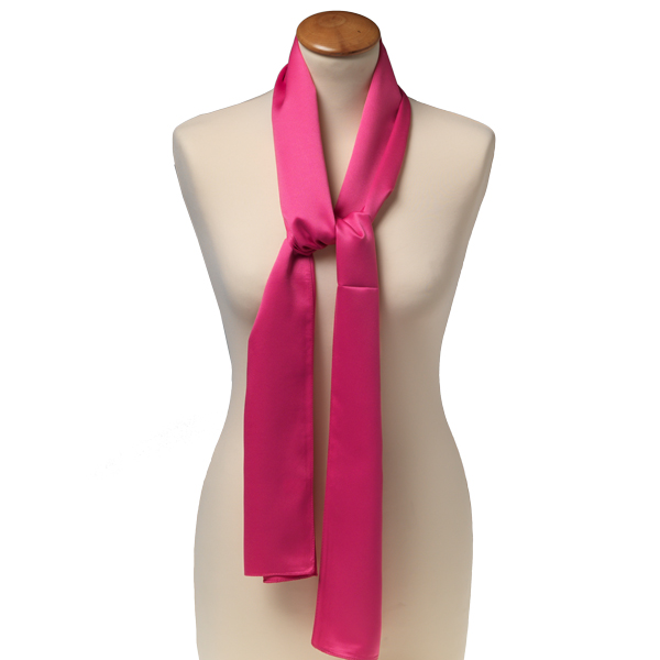 b08f5e5d09ee Foulard rectangle polyester pour femme   rose vif