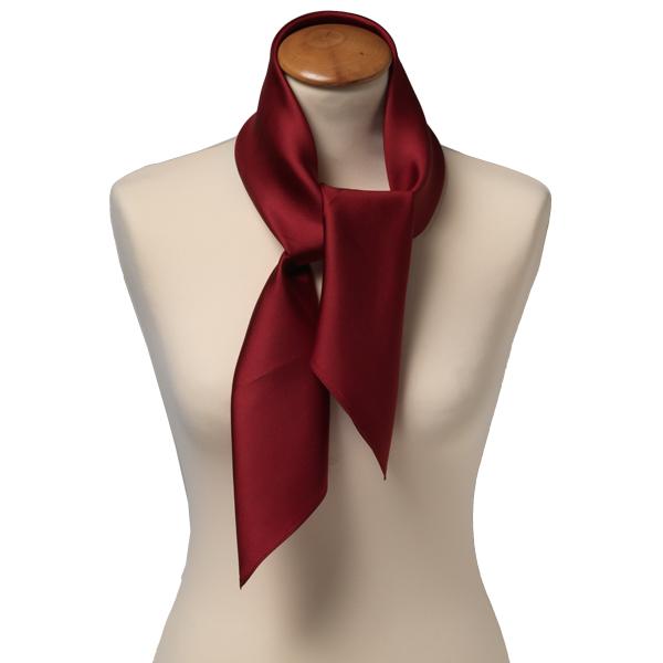 Foulard carré soie pour femme   bordeaux 6f59b0ddd46
