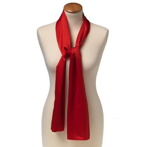 foulard carr polyester pour femme rouge. Black Bedroom Furniture Sets. Home Design Ideas