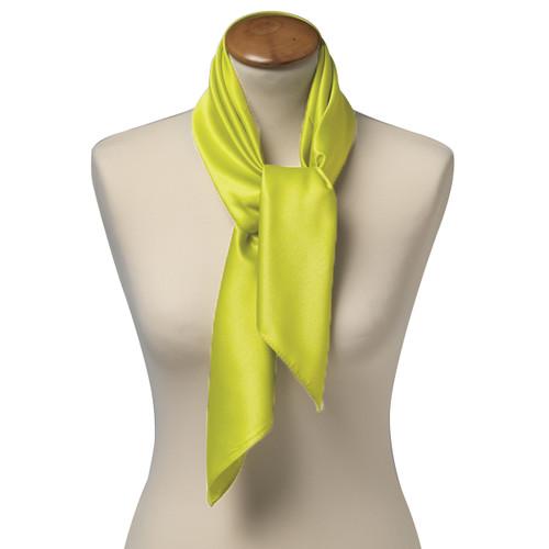 foulard carr polyester pour femme lime. Black Bedroom Furniture Sets. Home Design Ideas