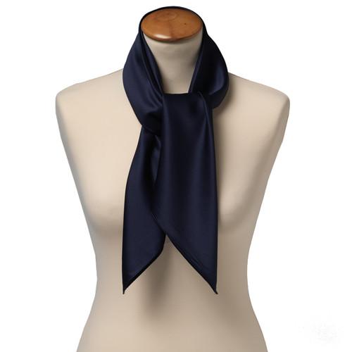 foulard carr polyester pour femme bleu fonc. Black Bedroom Furniture Sets. Home Design Ideas