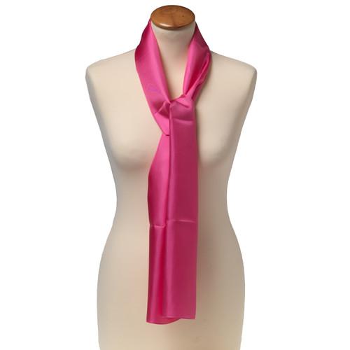 Foulard rectangle soie pour femme   rose vif 9c88a76d4ac