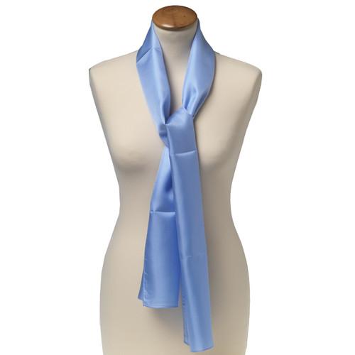 Foulard soie bleu clair- rectangle (1) 1fb64367bde3