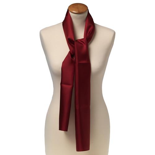Foulard rectangle soie pour femme   bordeaux 02a67d76330