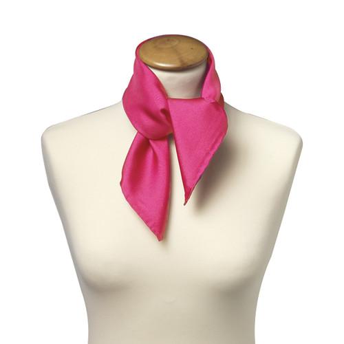 Foulard carré pour femme   rose vif 29e1fb2a188