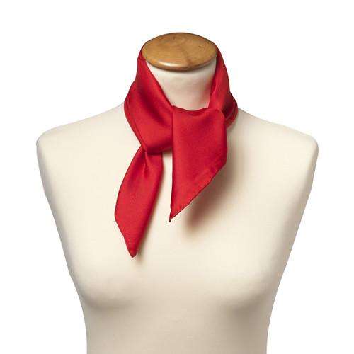 Foulard carré pour femme   rouge 94411d12466
