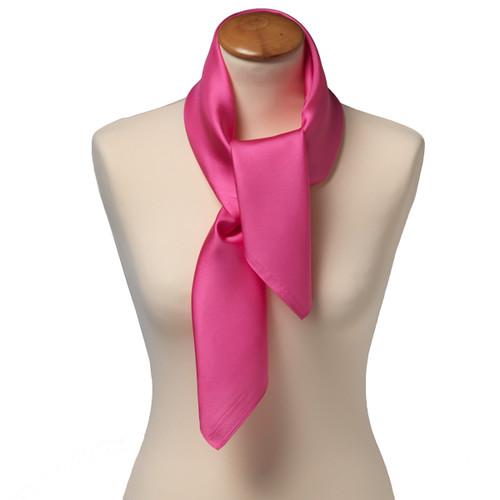Foulard carré soie pour femme   rose vif e1251d7abdc