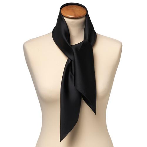 a6123e4a2127 Foulard carré soie pour femme   noir