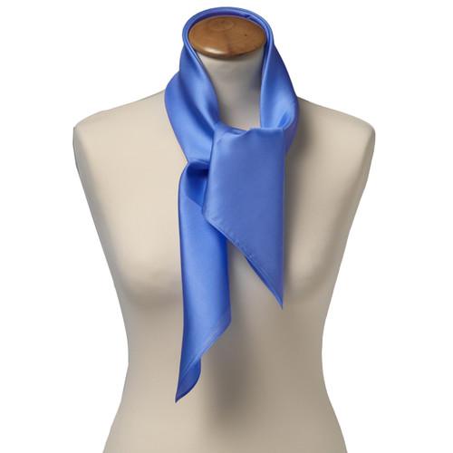 85671875624f Foulard carré soie pour femme   bleu