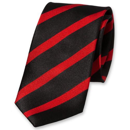 35de6008958e2 Cravate noire à rayures rouges
